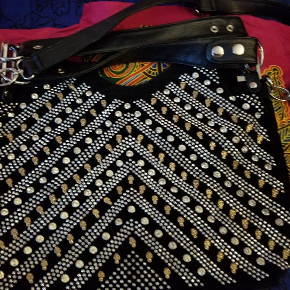Handbags - Bling Skull Leather bag